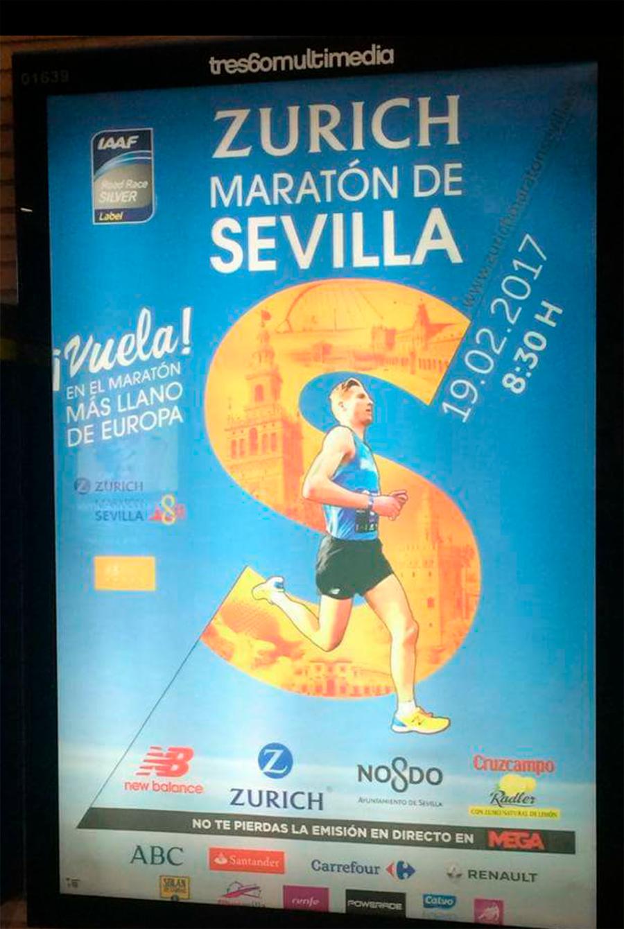 Zamora en la maratón de Sevilla