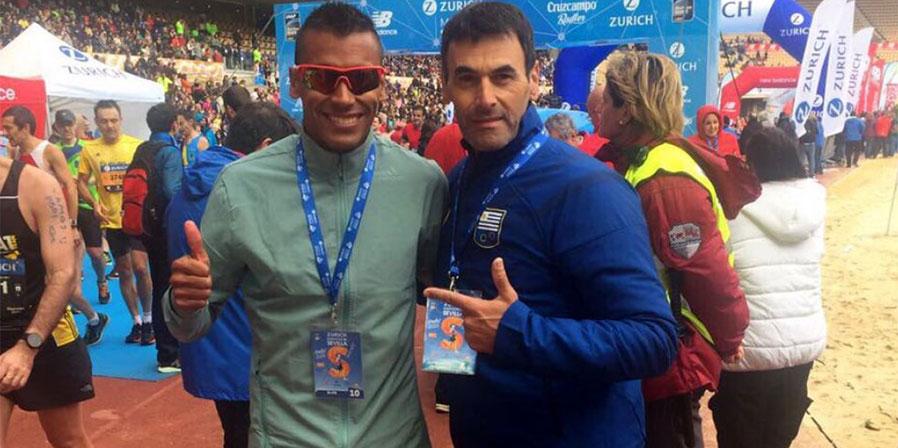 Andrés Zamora mejoró su marca en el Maratón de Sevilla