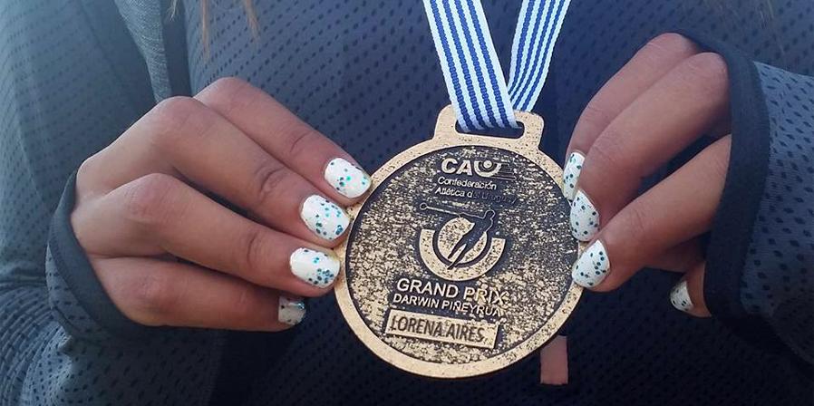 Lorena Aires, oro y récord nacional en el Grand Prix en Uruguay