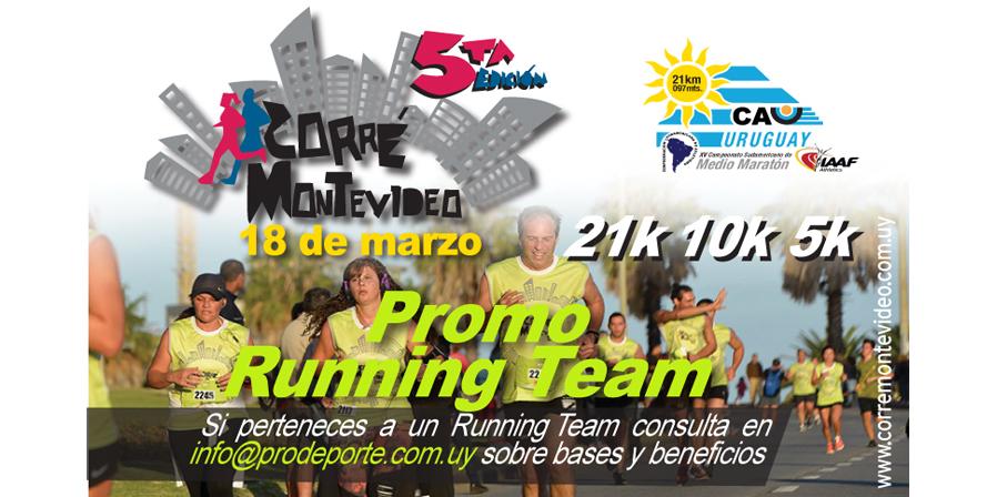 Promo para los Running Team para la Corré Montevideo.