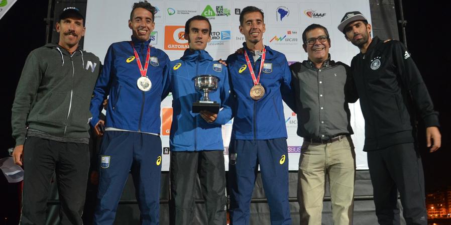 Uruguay en el podio del Sudamericano de Medio Maratón