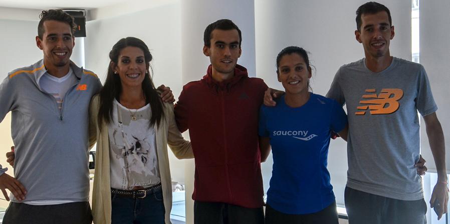 Selección uruguaya en la previa del Sudamericano de Medio Maratón.